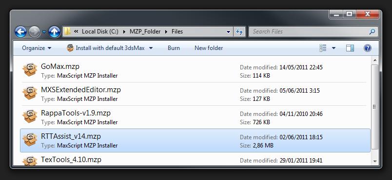 MaxScriptManager MZP Icons